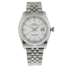 Rolex Datejust 116234 White Index Stick Jubilee 36mm Mens Watch