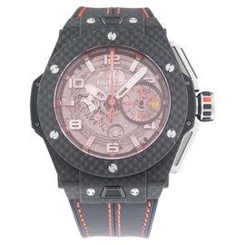 Hublot 401.QX.0123.VR Big Bang Ferrari Carbon Fiber Red Sapphire Watch