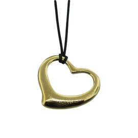 Tiffany & Co. Elsa Peretti 18K Yellow Gold Open Heart Pendant Necklace
