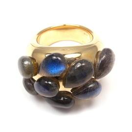 Pomellato 18K Y/G Labradorite Ring