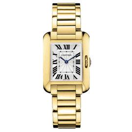 Cartier Tank Anglaise 18K Yellow Gold Watch