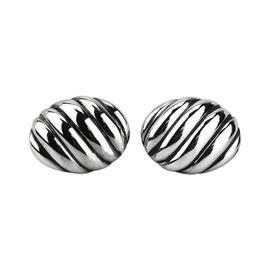 David Yurman Sterling Silver Oval Sculptured Cable Cufflinks