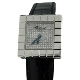 Chopard Ice Cube 127407-1003 Diamond 18K White Gold Womens Watch
