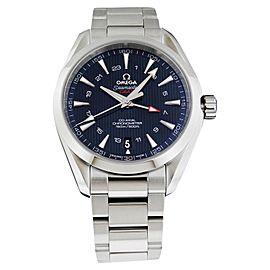 Omega Aqua Terra 150m GMT 231.10.43.22.03.001 Stainless Steel Blue Watch