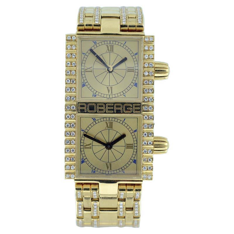 "Image of ""Roberge Pollux 18K Yellow Gold 37mm Womens Watch"""
