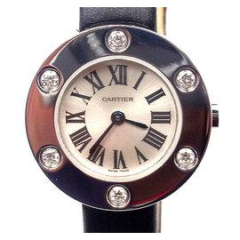 Cartier Love 18K White Gold Diamond Ladies Watch WE800231
