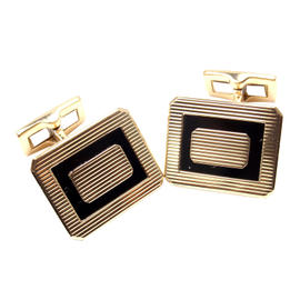 Piaget 18K Yellow Gold Black Onyx Cufflinks
