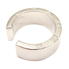 Chanel 18K White Gold Smooth Open Ring