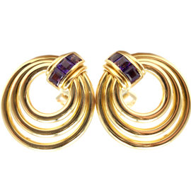 Bvlgari Bulgari 18k Yellow Gold Amethyst Earrings