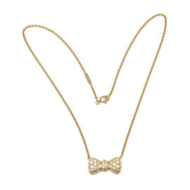 Van Cleef & Arpels YG Diamond Bow Necklace