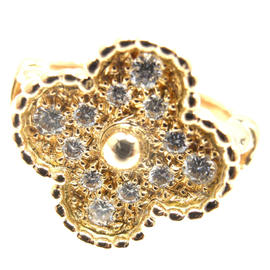 Van Cleef & Arpels YG Diamond Alhambra Ring