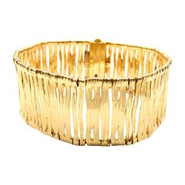 Roberto Coin Elephant Skin 18K Yellow Gold Wide Bracelet