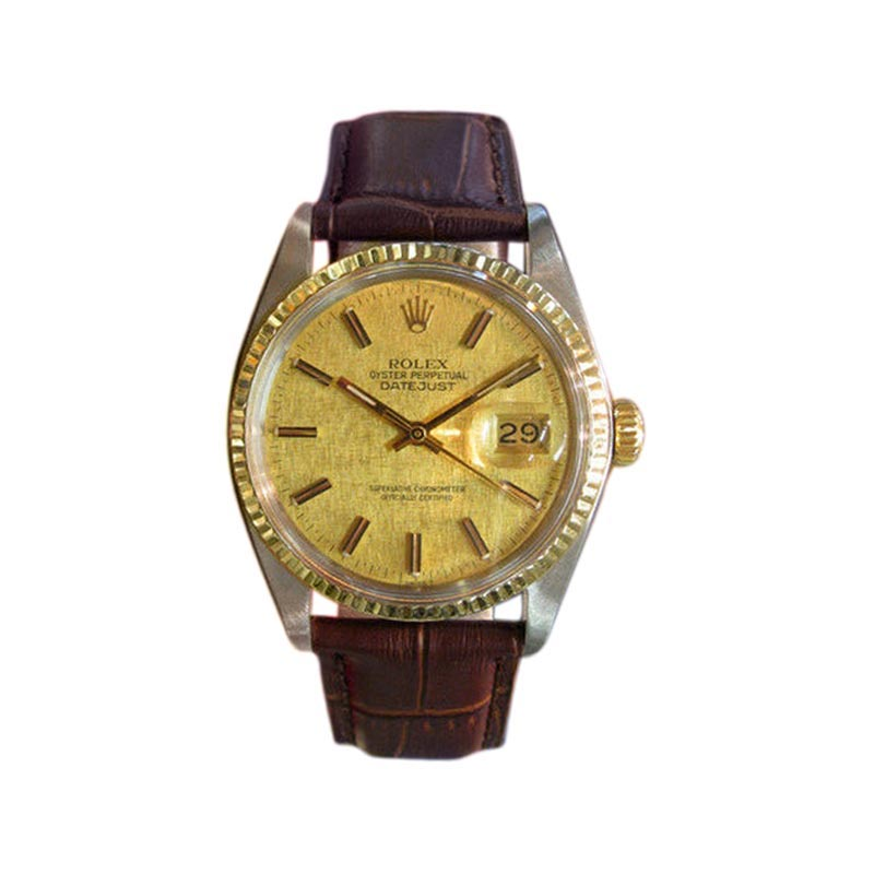 """Image of """"Rolex Oyster Perpetual Datejust Stainless Steel Yellow Gold Watch"""""""