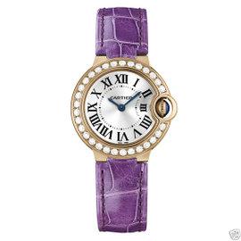 Cartier Ballon Bleu we900251 18Kt Rose Gold Quartz Diamond 28mm Watch