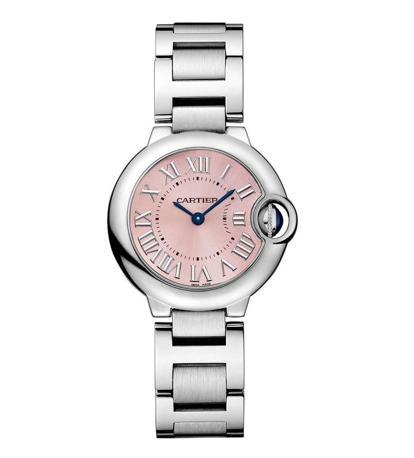 Cartier Ballon Bleu 28mm w6920038 Stainless Steel Quartz Pink Dial