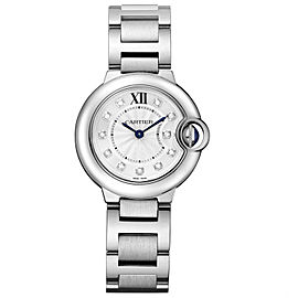 Cartier Ballon Bleu 28mm we902073 Stainless Steel Quartz Diamond Watch