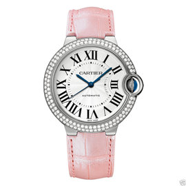 Cartier WE900651 Ballon Bleu 18kt White Gold Diamond Pink 36mm Womens Watch