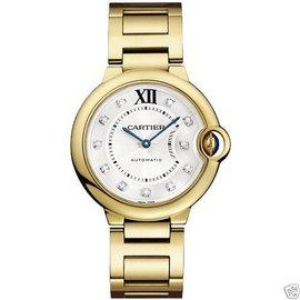 Cartier WE90202 Ballon Bleu 7 18KT Yellow Gold Diamond Dial 36mm Womens Watch