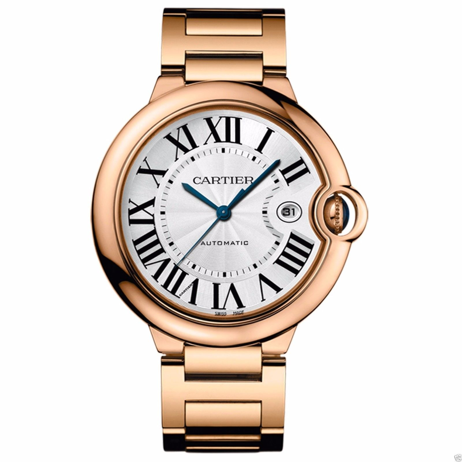 Cartier Ballon Bleu w69006z2 18K Rose Gold 42mm Mens Watch