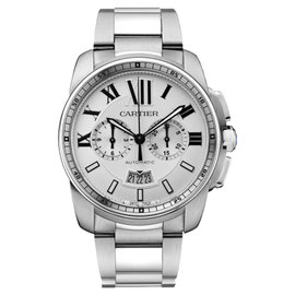 Cartier Calibre de Cartier Chronograph W7100045 Steel Watch