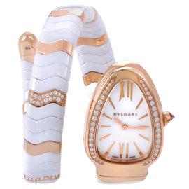 Bvlgari Bulgari Serpenti Spiga SPP35WGDWCGD1.1T Ceramic & Rose Gold Watch
