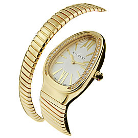 bulgari serpenti tubogas sp35c6gdg1t 18k yellow gold watch