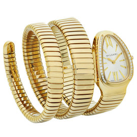 Bulgari Serpenti Tubogas sp35c6gdg.2t 18K Yellow Gold Watch