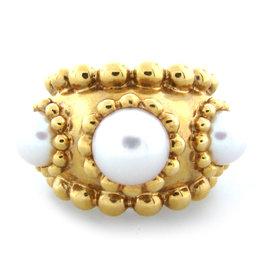 Chanel 18K Yellow Gold Akoya Pearl Ring