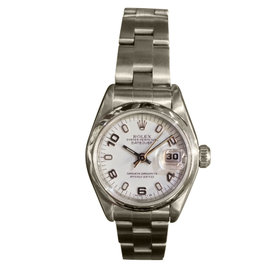 Rolex Oyster Perpetual Datejust White Dial Smooth Bezel Watch