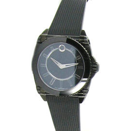 Movado 0606363 Master M03 Automatic Black Rubber Strap Watch 44mm