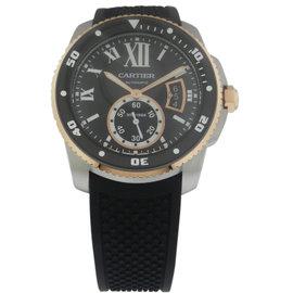 Cartier Calibre De Cartier Diver W7100055 Stainless Steel / Rubber Automatic 42mm Mens Watch