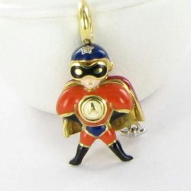 Aaron Basha BY70RN Baby Superboy Hero Diamond Star Gold
