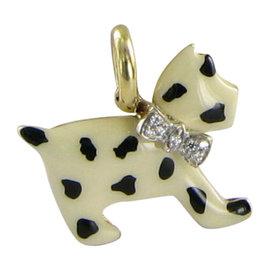 Aaron Basha Spotted Diamond Bow Pendant