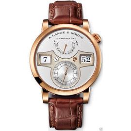 A. Lange & Sohne 140.032 Zeitwerk 18K Rose Gold 41.9mm Watch