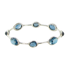 Ippolita Rock Candy 8 Stone London Blue Topaz Bangle Bracelet