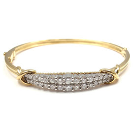 Tiffany & Co. Platinum 18K Yellow Gold Diamond Bracelet
