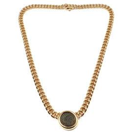 Bvlgari Bulgari 18K Yellow Gold Ancient Coin Link Necklace