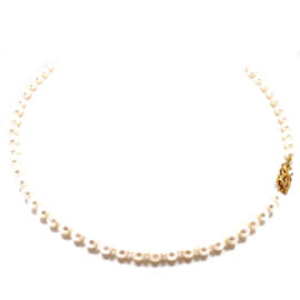 Vintage Mikimoto 18K Gold Pearl Necklace