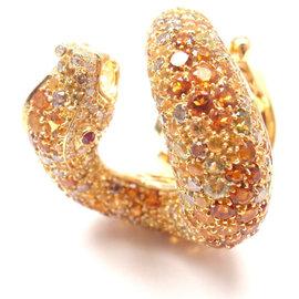 Pasquale Bruni 18K Yellow Gold IL Peccato Diamond & Sapphire Ring