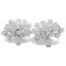 Pasquale Bruni 18K White Gold Pave Diamond Earrings
