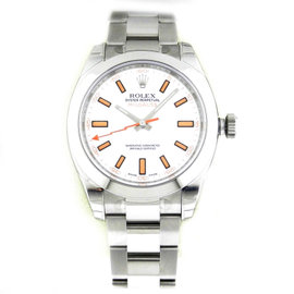 Rolex Milgauss 116400 Stainless Steel White Dial Watch
