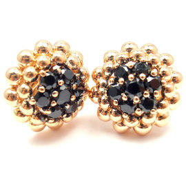 Pasquale Bruni Brunissimi 18k Rose Gold Black Spinel Earrings