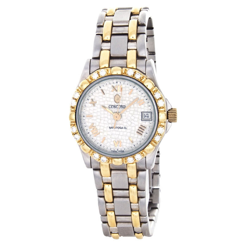 "Image of ""Concord 1021883 Saratoga SL 18K Yellow Gold Two-Tone Dress Quartz Date"""