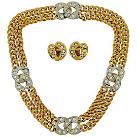 Pomellato Gold Diamond Necklace & Earrings Set