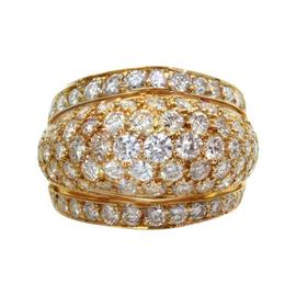 Cartier Estate 18k Yellow Gold Diamond Dome Band Ring