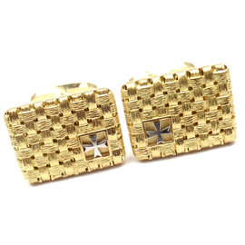 Vacheron Constantin 18k Yellow Gold Platinum Cufflinks