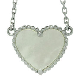 Van Cleef & Arpels Lucky Alhambra 18k White Gold Shell Necklace