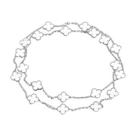 Van Cleef & Arpels Alhambra Motif Mother-of-Pearl Necklace