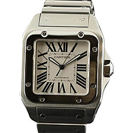 Cartier Santos 100 W200737G Stainless Steel White Watch