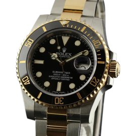Rolex Submariner 116613 Steel Gold Ceramic Black Watch